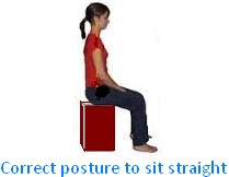 Correct Posture to Sit Straight