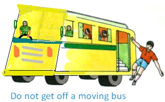 Safety Rules in the Bus or Vehicles