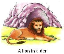 A Lion in a Den