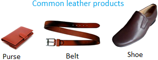 Common Leather Products